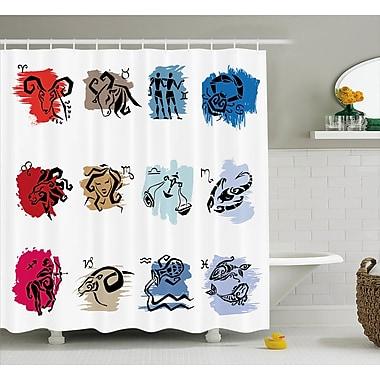 Ebern Designs Alexi Zodiac Signs Art Shower Curtain; 69'' W x 75'' L