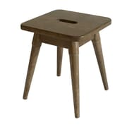 Ebern Designs Ardell Solid Wood Square Accent Stool; Antique Chestnut