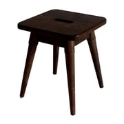 Ebern Designs Ardell Solid Wood Square Accent Stool; Espresso