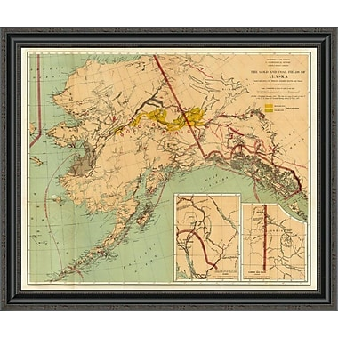 East Urban Home 'The Gold and Coal Fields of Alaska; 1898' Framed Print; 22'' H x 34'' W x 1.5'' D