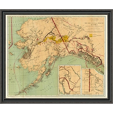 East Urban Home 'The Gold and Coal Fields of Alaska; 1898' Framed Print; 34'' H x 44'' W x 1.5'' D