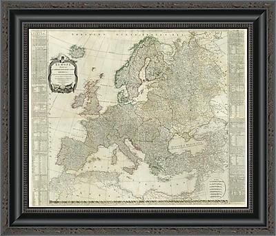 East Urban Home 'Composite: Europe; 1787' Framed Print; 13'' H x 20'' W x 1.5'' D
