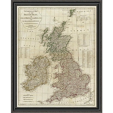 East Urban Home 'A Complete Map of the British Isles; 1788' Framed Print; 17'' H x 34'' W x 1.5'' D
