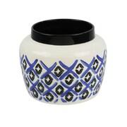 Ebern Designs Blue Ceramic Pot Rack; 7''H x 9''W x 9''D