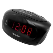 Ebern Designs Electric LED Alarm Clock; Black