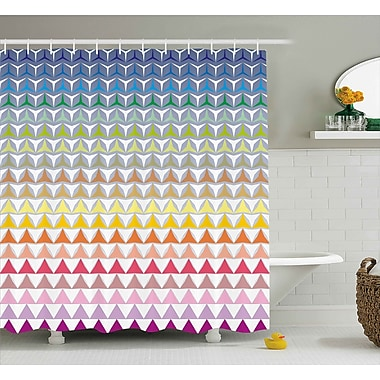Ebern Designs Hope Trippy Geometric Forms Print Shower Curtain; 69'' W x 70'' L