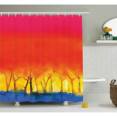 Ebern Designs Imala Colorful Abstract Tree Shower Curtain; 69'' W x 84'' L