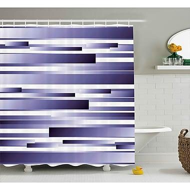Ebern Designs Enrique Purple Shades Pattern Shower Curtain; 69'' W x 84'' L