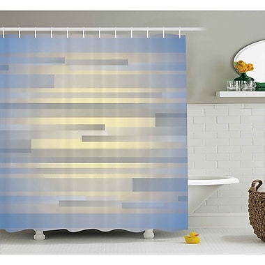 Ebern Designs Enrique Long Striped Forms Shower Curtain; 69'' W x 84'' L