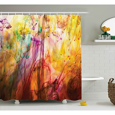 Ebern Designs Florance Rainbow Colored Image Shower Curtain; 69'' W x 75'' L