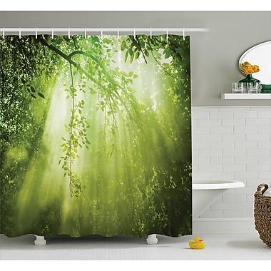 Ebern Designs Faye Shine Sunbeams Woodland Shower Curtain; 69'' W x 75'' L