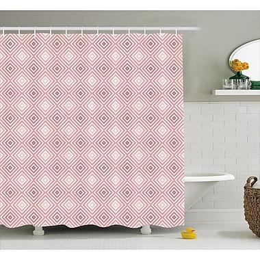 Ebern Designs Cadencia Rhombus Stripes Line Shower Curtain; 69'' W x 75'' L