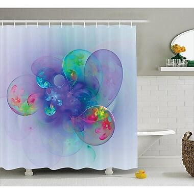Ebern Designs Cammi Creative Modern Design Shower Curtain; 69'' W x 84'' L