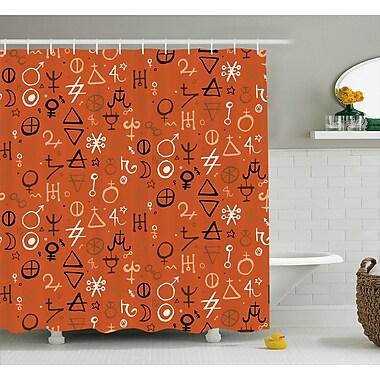 Ebern Designs Cearbhall Western Aztec Spiritual Shower Curtain; 69'' W x 84'' L