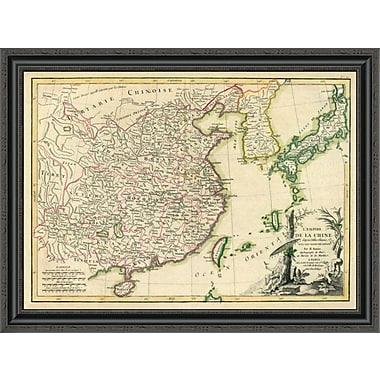 East Urban Home 'China; 1791' Framed Print; 25'' H x 34'' W x 1.5'' D
