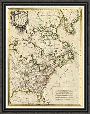 East Urban Home 'Composite: L'Amerique Septentrionale; 1783' Framed Print; 25'' H x 31'' W x 1.5'' D
