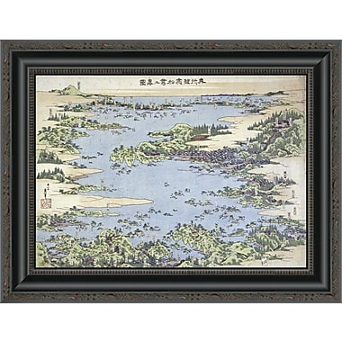 East Urban Home 'Map of Shiogama and Matsushima in Oshu' Framed Print; 15'' H x 20'' W x 1.5'' D