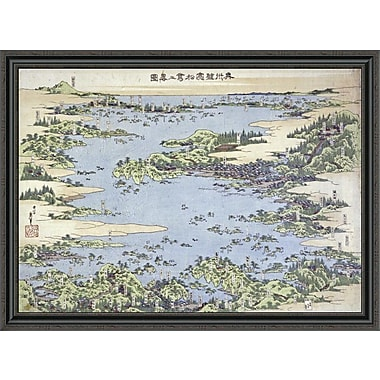 East Urban Home 'Map of Shiogama and Matsushima in Oshu' Framed Print; 32'' H x 44'' W x 1.5'' D