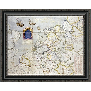 East Urban Home 'Watercolour Map of Northern Europe' Framed Print; 21'' H x 26'' W x 1.5'' D