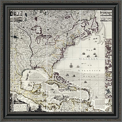 East Urban Home 'A Map of the British Empire in America' Framed Print; 26'' H x 26'' W x 1.5'' D