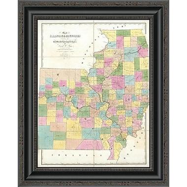 East Urban Home 'Map of Illinois & Missouri; 1839' Framed Print; 20'' H x 16'' W x 1.5'' D