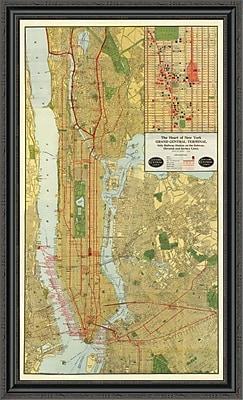 East Urban Home 'Heart of New York; 1918' Framed Print; 28'' H x 27'' W x 1.5'' D
