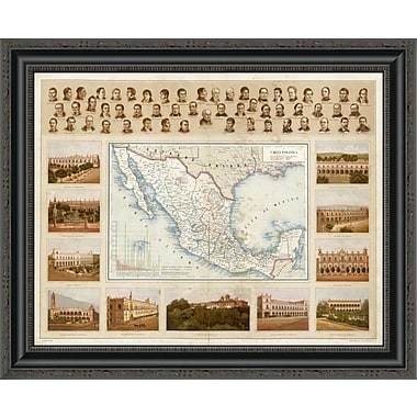 East Urban Home 'Carta Politica; 1885' Framed Print; 21'' H x 26'' W x 1.5'' D