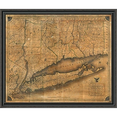East Urban Home 'Map of the Southern Part of the State of New York; 1815' Framed Print