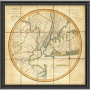 East Urban Home 'Map of the Country Thirty Miles Round the City of New York; 1811' Framed Print