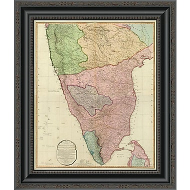 East Urban Home 'Composite: India Peninsula; 1800' Framed Print; 30'' H x 17'' W x 1.5'' D