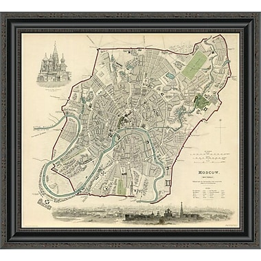 East Urban Home 'Moscow; Russia; 1836' Framed Print; 22'' H x 26'' W x 1.5'' D