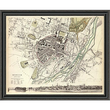 East Urban Home 'Munich; Germany; 1832' Framed Print; 28'' H x 40'' W x 1.5'' D