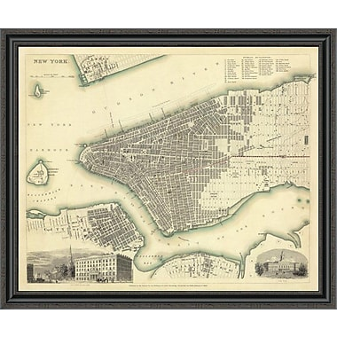 East Urban Home 'New York; NY; 1840' Framed Print; 28'' H x 40'' W x 1.5'' D