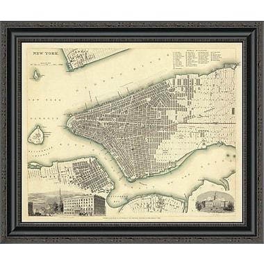 East Urban Home 'New York; NY; 1840' Framed Print; 34'' H x 26'' W x 1.5'' D