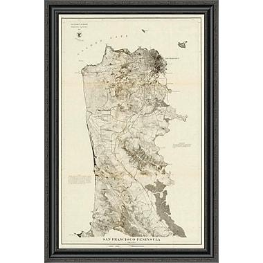 East Urban Home 'San Francisco Peninsula; 1869' Framed Print; 34'' H x 26'' W x 1.5'' D