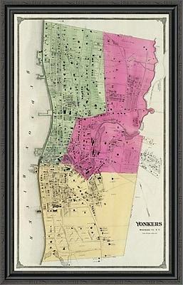 East Urban Home 'Yonkers; New York; 1868' Framed Print; 44'' H x 28'' W x 1.5'' D