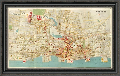 East Urban Home 'Composite: Yonkers; New York; 1893' Framed Print; 20'' H x 34'' W x 1.5'' D