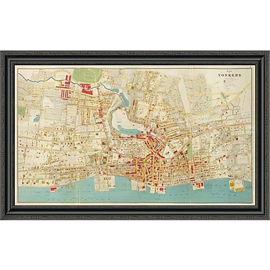 East Urban Home 'Composite: Yonkers; New York; 1893' Framed Print; 26'' H x 40'' W x 1.5'' D