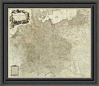 East Urban Home 'Map of the Empire of Germany; 1790' Framed Print; 44'' H x 26'' W x 1.5'' D