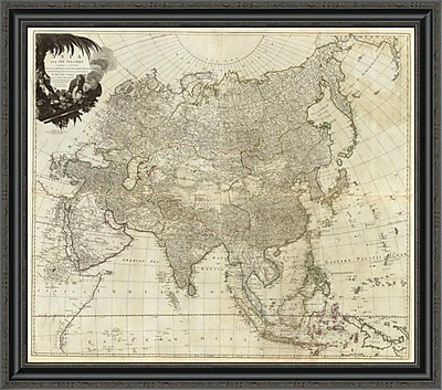 East Urban Home 'Composite: Asia; Islands According to D'Anville; 1787' Framed Print