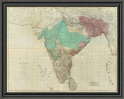 East Urban Home 'Composite: East Indies w/ Roads; 1768' Framed Print; 40'' H x 40'' W x 1.5'' D