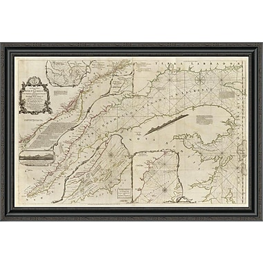 East Urban Home 'An Exact Chart of the River St. Laurence; 1775' Framed Print