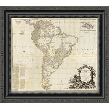 East Urban Home 'Composite: South America; 1787' Framed Print; 32'' H x 20'' W x 1.5'' D
