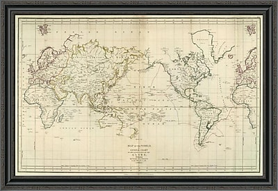 East Urban Home 'La Perouse's Voyage; 1799' Framed Print; 14'' H x 40'' W x 1.5'' D