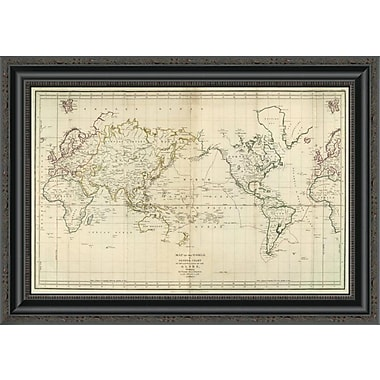 East Urban Home 'La Perouse's Voyage; 1799' Framed Print; 34'' H x 26'' W x 1.5'' D