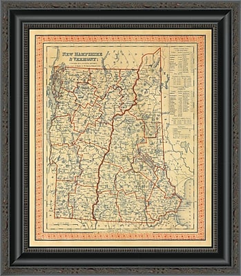 East Urban Home 'New Hampshire; Vermont; 1846' Framed Print; 23'' H x 17'' W x 1.5'' D
