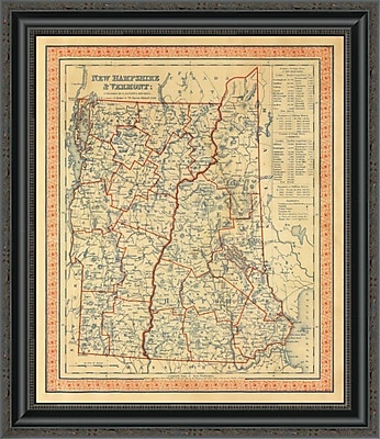 East Urban Home 'New Hampshire; Vermont; 1846' Framed Print; 26'' H x 22'' W x 1.5'' D
