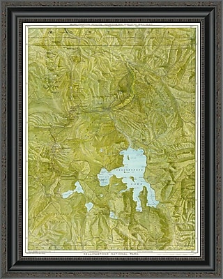 East Urban Home 'Yellowstone National Park; 1901' Framed Print; 15'' H x 21'' W x 1.5'' D