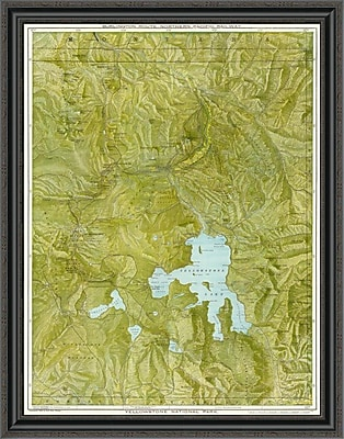 East Urban Home 'Yellowstone National Park; 1901' Framed Print; 22'' H x 31'' W x 1.5'' D