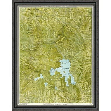 East Urban Home 'Yellowstone National Park; 1901' Framed Print; 24'' H x 34'' W x 1.5'' D